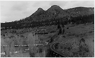 RGS 4-6-0 #20 heading up the branch line to the Boston Coal & Fuel mine on Perin's Peak.<br /> RGS  Franklin Junction, CO  Taken by Peyton, Ernie S. - 3/1948<br /> Same as RD168-012 & RD168-013.