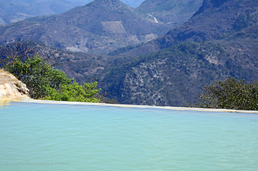 View from the lower pool, Hierve el Agua, Oaxaca.
