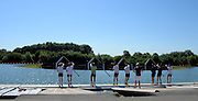 Caversham, Great Britain,  GBR JM8+ boating Joel Cooper (Abingdon School)/<br /> Elliott Piercy (St Georges College)/<br /> Harry Lonergan (Shrewsbury School)/<br /> Morgan Bolding (Walton RC)/<br /> Matthew Carter (Abingdon School)/<br /> Oli Knight (St Edwards School)/<br /> Matthew Benstead (Hampton School)/<br /> Titus Morley (St Edwards School)/<br /> Ian Middleton (Abingdon School)<br /> <br />  Junior Training Camp,at the Redgrave Pinsent Rowing Lake. GB Rowing Training centre. Thursday  01/08/2013c  [Mandatory Credit. Peter Spurrier/Intersport Images]