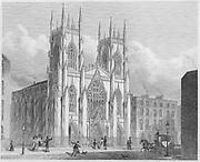 New National Scotch Church, Sidmouth St Grays Inn Road, 'Metropolitan Improvements, or London in the Nineteenth Century', England, UK 1828 , drawn by Thomas H Shepherd