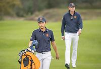 HILVERSUM - Netherlands vs Italy (1-2) . Jerry Ji (Neth) wins his  match.  . Quarter finals. ELTK Golf 2020 The Dutch Golf Federation (NGF), The European Golf Federation (EGA) and the Hilversumsche Golf Club will organize Team European Championships for men. COPYRIGHT KOEN SUYK