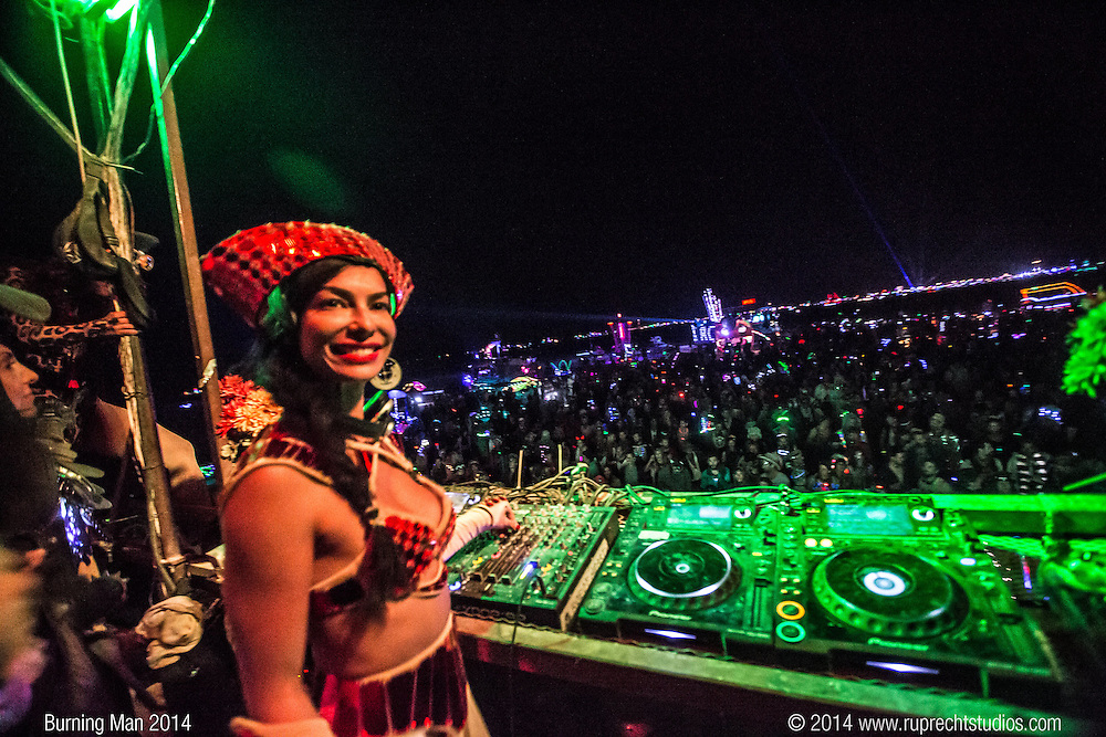 Scarlett Etienne at Burning Man 2014 on Robot Heart photographed by Peter Ruprecht