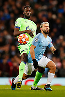England v Italy Football - 2018 / 2019 UEFA Champions League - Round of Sixteen, Second Leg: Manchester City (3) FC Schalke 04 (2)<br /> <br />  at The Etihad.<br /> <br /> COLORSPORT/LYNNE CAMERONFootball - 2018 / 2019 UEFA Champions League - Round of Sixteen, Second Leg: Manchester City (3) FC Schalke 04 (2)<br /> <br /> Sergio Aguero of Manchester City and Nabil Bentley of FC Schalke 04 at The Etihad.<br /> <br /> COLORSPORT/LYNNE CAMERON