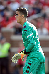 July 28, 2018 - Ann Arbor, Michigan, United States - Goalkeeper Lee Grant of Manchester United looks up the field during an International Champions Cup match between Manchester United and Liverpool at Michigan Stadium in Ann Arbor, Michigan USA, on Wednesday, July 28,  2018. (Credit Image: © Amy Lemus/NurPhoto via ZUMA Press)