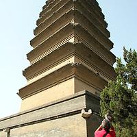 Asia, China, Shaanxi, Xian. The Small Wild Goose Pagoda in Xian.