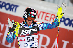 "Sebastian Holzmann (GER) during FIS Alpine Ski World Cup 2016/17 Men's Slalom race named ""Snow Queen Trophy 2017"", on January 5, 2017 in Course Crveni Spust at Sljeme hill, Zagreb, Croatia. Photo by Ziga Zupan / Sportida"