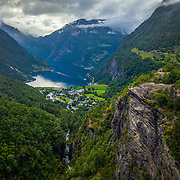 Geiranger is a small tourist village in Sunnmøre region of Møre og Romsdal county in the western part of Norway. It lies in Stranda at the head of the Geirangerfjorden, which is a branch of the large Storfjorden. The nearest city is Ålesund. Geiranger is home to some of the most spectacular scenery in the world, and has been named the best travel destination in Scandinavia by Lonely Planet. Since 2005, the Geirangerfjord area has been listed as a UNESCO World Heritage Site.Please feel free to check my photos here or find me by: |Website| ,|Facebook page| , |Instagram| ,|Google+| ,|Twitter |.