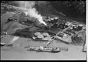 """Ackroyd 04397-6 """"Aerials. May 12, 1953"""" """"Portland Gas & Coke"""" (GASCO, DEQ Site ID# 84, 7900 NW St. Helens Rd. Highway 30, Linnton.)"""