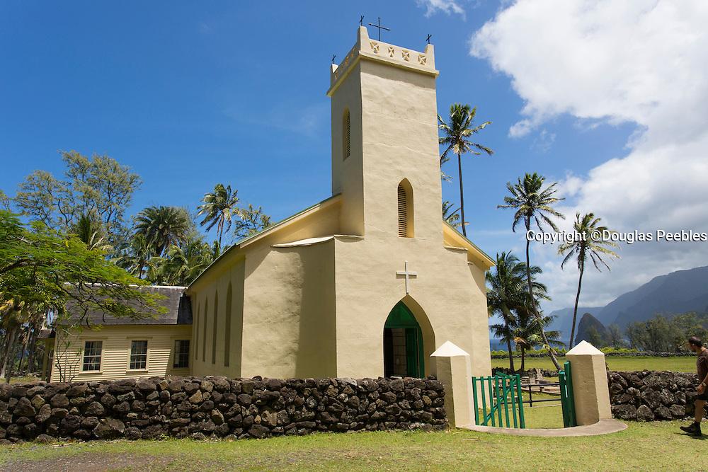 St Philomena, Father Damiens church, Kalaupapa Peninsula, Molokai, Hawaii