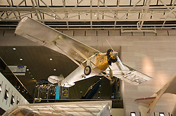 Washington DC; USA: National Air and Space Museum.  Charles Lindbergh's Spirit of St. Louis airplane that crossed the Atlantic.Photo copyright Lee Foster Photo # 10-washdc80058