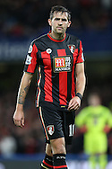 Charlie Daniels of Bournemouth looks on. Barclays Premier league match, Chelsea v AFC Bournemouth at Stamford Bridge in London on Saturday 5th December 2015.<br /> pic by John Patrick Fletcher, Andrew Orchard sports photography.