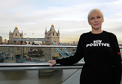 Annie Lennox at the City Hall for a reception to launch Body & Soul's 'In my Shoes' campaign for World AIDS Day.