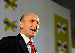 © under license to London News Pictures. LONDON, UK  03/05/2011. John Healey addresses the rally. William Hague, Lord Owen, Theresa May, Paul Boateng, John Healey and James Cracknell at a rally urging support for a NO vote held at The Methodist Hall in Central London this morning (03 May 2011). The Rally was to urge people to vote in favour of a NO vote at the forth coming AV Referendum. Photo credit should read Stephen Simpson/LNP.