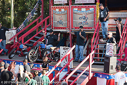 California Hellriders Wall of Death at the Iron Horse Saloon during Biketoberfest. Ormond Beach, FL, USA. Thursday October 19, 2017. Photography ©2017 Michael Lichter.