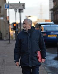 Labour leader Jeremy Corbyn arrives for the Labour NEC meeting in Glasgow on Sunday.<br /> <br /> <br /> © Dave Johnston/ EEm