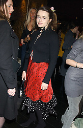 Actress HELENA BONHAM-CARTER at a preview of Lulu Guinness's new Handbag Collection ' Couture' held at Aviva, Baglioni Hotel, 60 Hyde Park Gate, London SW7 on 15th February 2006.<br /><br />NON EXCLUSIVE - WORLD RIGHTS