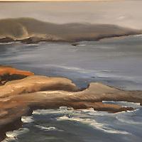 Crashing Surf. Plein air oil sketch, 9 x 12.