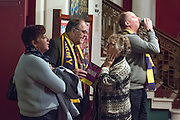 © Licensed to London News Pictures. 28/02/2015. Margate, UK.Delegates at the second day of the conference.  The UKIP spring conference at Margate Winter Gardens 28th February 2015. Photo credit : Stephen Simpson/LNP