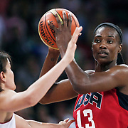 USA's Sylvia Fowles during their friendly woman Basketball match Turkey between USA at Abdi Ipekci Arena in Istanbul, Turkey, Saturday, July 22, 2012. Photo by TURKPIX
