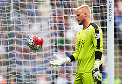Kasper Schmeichel of Leicester City  - Mandatory byline: Jack Phillips/JMP - 07966386802 - 08/08/2015 - SPORT - FOOTBALL - Leicester - King Power Stadium - Leicester City v Sunderland - Barclays Premier League