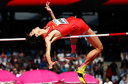 LONDON, Aug. 11, 2017  Wang Yu of China competes during Men's High Jump Qualification on Day 8 of the 2017 IAAF World Championships at London Stadium in London, Britain, on Aug. 11, 2017. (Credit Image: © Wang Lili/Xinhua via ZUMA Wire)