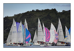 The Brewin Dolphin Scottish Series, Tarbert Loch Fyne..Congested one design finish with 1720's Sonata's and Sigma 33's ..