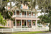 The Spencer House Inn, a colonial home and B&B in the Historic District of St Marys, Georgia.