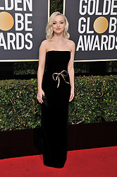 Dove Cameron at the 75th Golden Globe Awards held at the Beverly Hilton in Beverly Hills, CA on January 7, 2018.<br /><br />(Photo by Sthanlee Mirador)