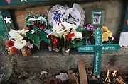Day of the Dead gravestone, at Todos Santos de  Cuchumatan, Guatemala.