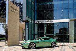 Showroom of Aston Martin luxury cars in Dubai United Arab Emirates