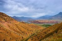 Tadjikistan, Asie centrale, Gorno Badakhshan, Haut Badakhshan, le Pamir, vallée de la rivière Panj qui sépare le Tadjikistan et l'Afghanistan // Tajikistan, Central Asia, Gorno Badakhshan, the Pamir, Panj valley, Panj river between Tajikistan and Afghanistan