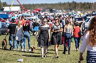 Jämtland, SVERIGE - 18 MAJ 2019: Över 8000 besökare på årets Springmeet. (Foto: Per Danielsson/Projekt.P ) <br /> <br /> Nyckelord Keywords: Springmeet 2019, Ope Flygfält,