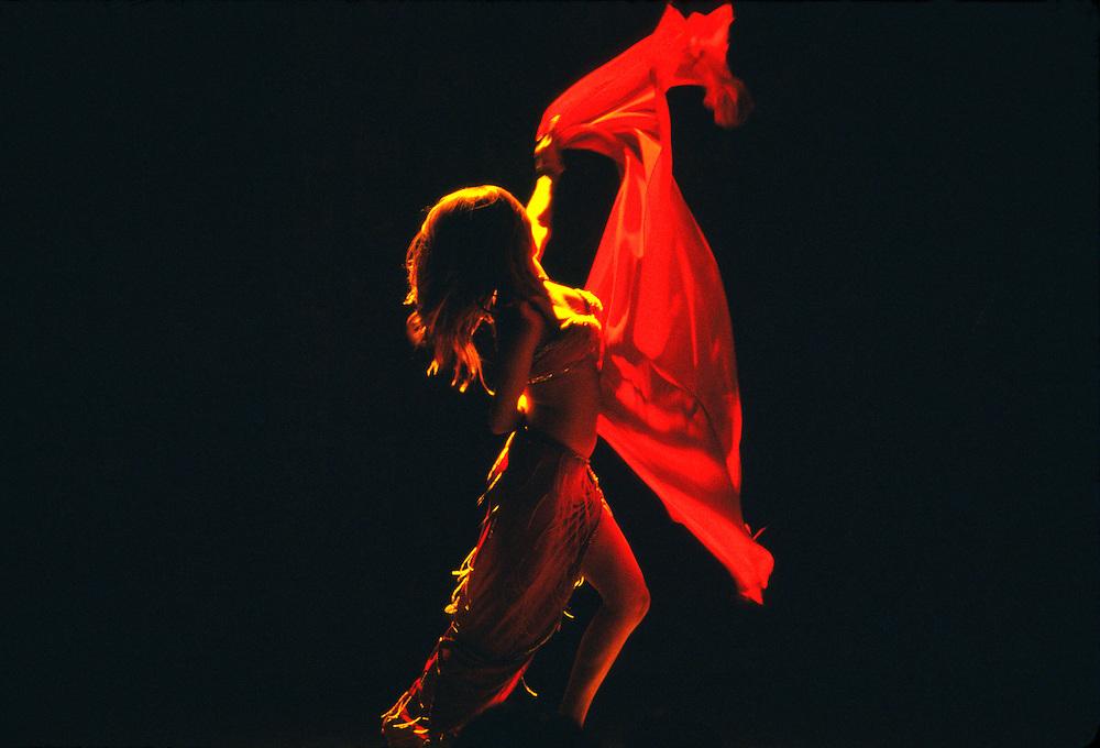 Belly dancer, Turkish folklore show, Club Kervansaray (hotel), Kusadasi, Turkey