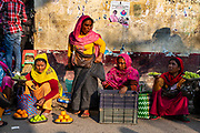 Women vendors, Ima Keithel women´s market, Imphal, Manipur, India