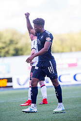 Falkirk's Myles Hippolyte waves to the Dunfermline fans as he is substituted. Falkirk 2 v 0 Dunfermline, Scottish Challenge Cup played 7/9/2017 at The Falkirk Stadium.