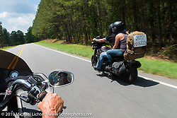 """The coast-to-coast """"Stampeders"""" take a local ride Saturday morning during Smokeout 16. Rockingham, NC. USA. June 20, 2015.  Photography ©2015 Michael Lichter."""