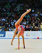 Francesca Majer atleta della società San Giorgio Desio durante la seconda prova del Campionato Italiano di Ginnastica Ritmica.<br /> La gara si è svolta a Desio il 31 ottobre 2015.