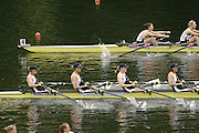 2006 FISA World Cup, Lucerne, SWITZERLAND, 07.07.2006. Women's Quadruple Sculls. GBR W4X bow,  Debbie FLOOD, Sarah WINCKLESS, Frances HOUGHTON, Katherine GRAINGER, USA Bow Lia PERNELL, Liane MALCOS, Jennifer KAIDO, Ala PIOTROWSKI  Photo  Peter Spurrier/Intersport Images email images@intersport-images.com.[Friday Morning]....[Mandatory Credit Peter Spurrier/Intersport Images... Rowing Course, Lake Rottsee, Lucerne, SWITZERLAND.