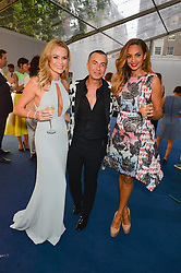 Left to right, AMANDA HOLDEN, JULIEN MACDONALD and ALESHA DIXON at the Glamour Women of The Year Awards in Association with Next held in Berkeley Square Gardens, Berkeley Square, London on 3rd June 2014.