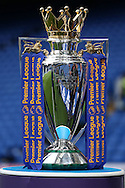 Premier League trophy on display inside Stamford Bridge before k/o. Premier league match, Chelsea v Liverpool at Stamford Bridge in London on Friday 16th September 2016.<br /> pic by John Patrick Fletcher, Andrew Orchard sports photography.