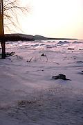 Frozen Lake Superior near the Porcupine Mountains.  Bessemer Michigan USA