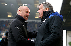 Everton manager Sam Allardyce (right) and Burnley manager Sean Dyche shake hands before the Premier League match at Turf Moor, Burnley.