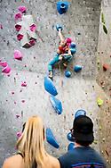 Movement Climbing Cookie Jar Competition in Boulder, CO. © Brett Wilhelm