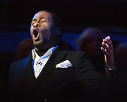 """Nathan Myers performs """"Rock'n Jerusalem"""" during the 30th Annual Black Music & the Civil Rights Movement Concert at the Morton H. Meyerson Symphony Center in Dallas, Texas, on January 20, 2013.  (Stan Olszewski/The Dallas Morning News)"""