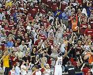 LeBron James throws talcum powder in the air during his pregame ritual at Quicken Loans Arena.