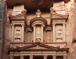 The Treasury (Al Khazneh), at Petra, Jordan, UNESCO World Heritage Site
