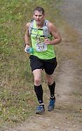 New Paltz, New York -Don Weise runs through the Mohonk Preserve during the Shawangunk Ridge Trail Run/Hike 20-mile race on Sept. 20, 2014.