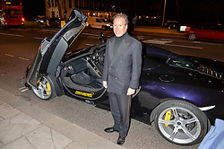VISCOUNT LINLEY at the inaugural dinner for The Queen Elizabeth Scholarship Trust hosted by Viscount Linley at the V&A museum, London on 25th February 2016.
