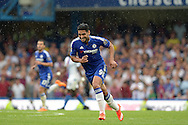 Radamel Falcao of Chelsea trying to keep up with the flow of play. Barclays Premier League, Chelsea v Crystal Palace at Stamford Bridge in London on Saturday 29th August 2015.<br /> pic by John Patrick Fletcher, Andrew Orchard sports photography.