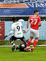 Football - 2020 / 2021 Sky Bet Championship - Swansea City vs Barnsley - Liberty Stadium<br /> <br /> Jamal Lowe of Swansea scores his team's first goal<br /> <br /> COLORSPORT/WINSTON BYNORTH
